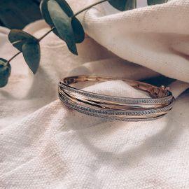 Armband bicolor briljant 1,03 crt.