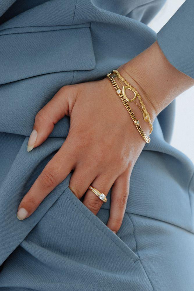armband geelgoud briljant 030 crt
