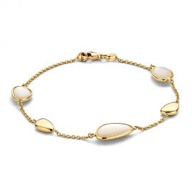 Armband geelgoud parelmoer