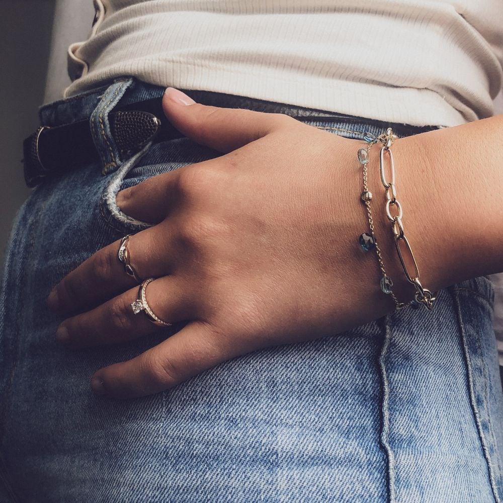armband geelgoud topaas