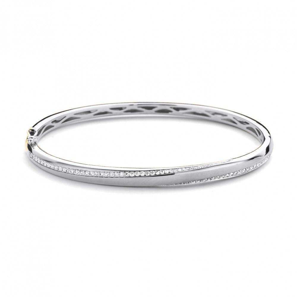 armband wit briljant 063 crt