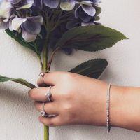 armband witgoud briljant 095 crt