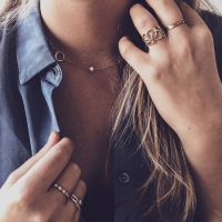 collier geelgoud parel