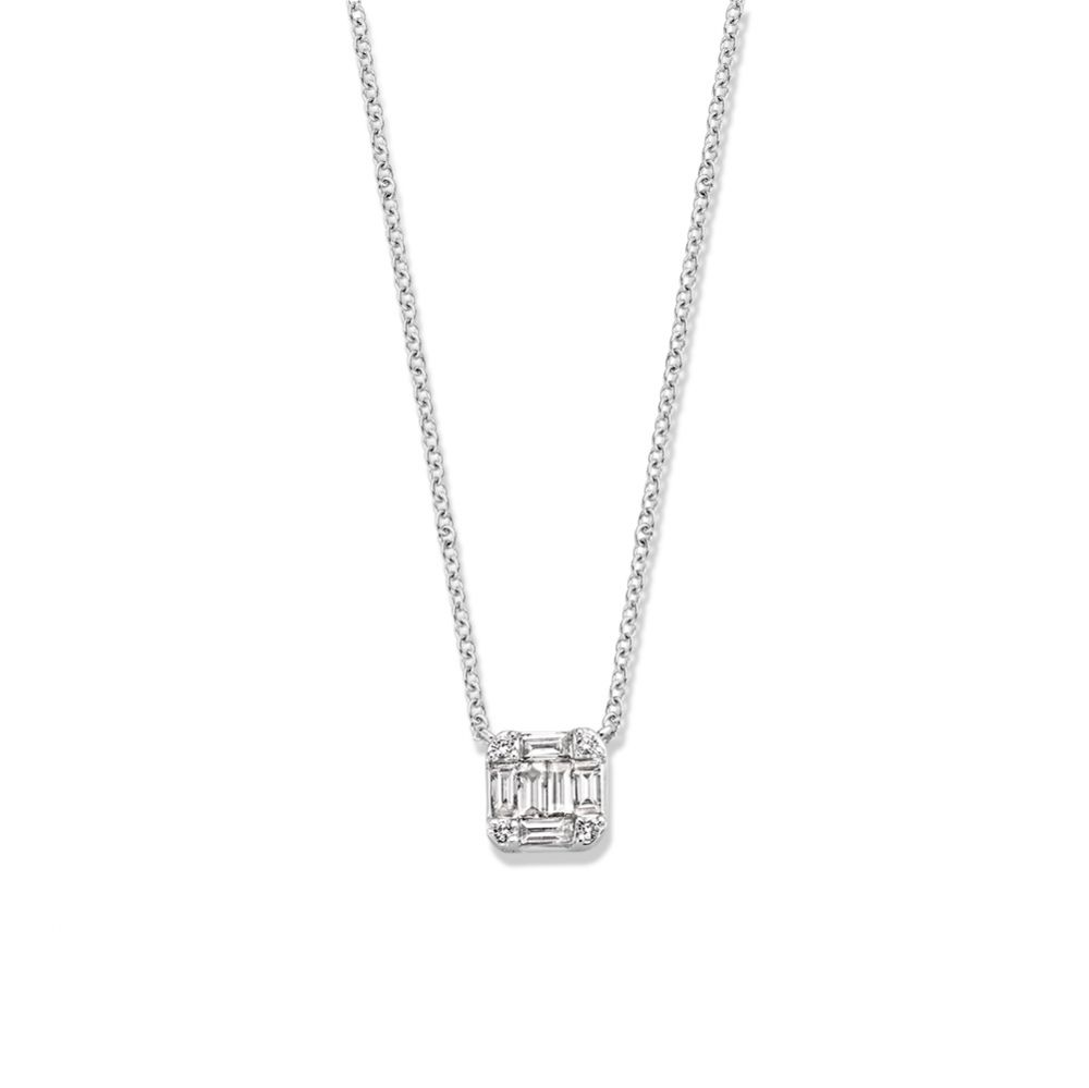 collier witgoud diamant 030 crt