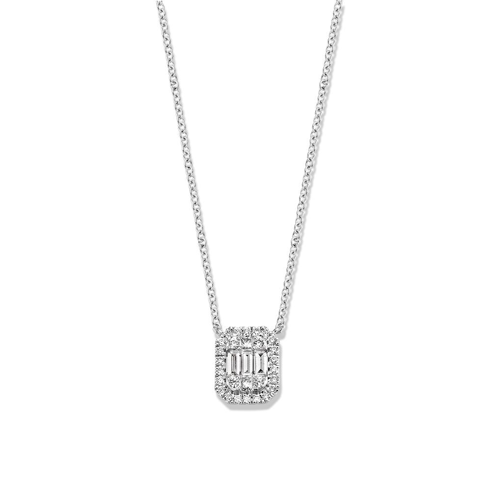 collier witgoud diamant 040 crt