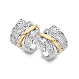 Creool zilver/goud zirkonia