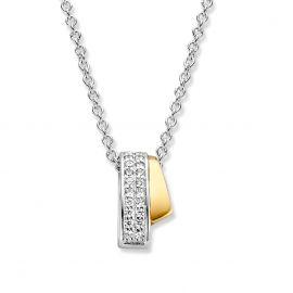 Hanger zilver/goud zirkonia