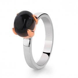 Loto ring zilver/goud rookkwarts