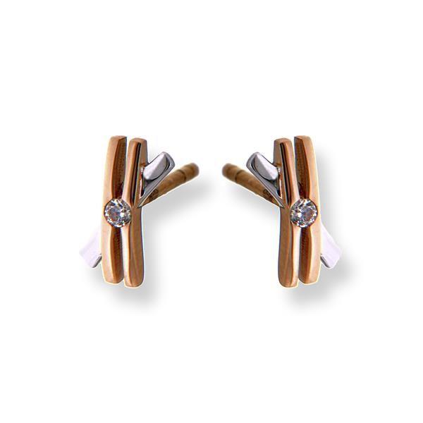 oorstekers bicolor zirkonia