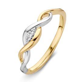 Ring bicolor briljant 0.01 crt.