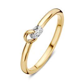 Ring bicolor briljant 0,02 crt.