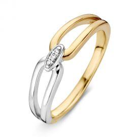 Ring bicolor briljant 0.02 crt.