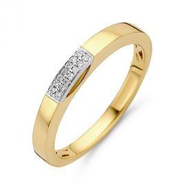 Ring bicolor briljant 0.03 crt.