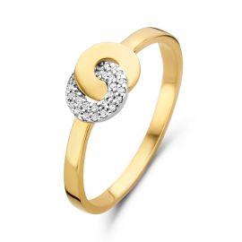 Ring bicolor briljant 0.06 crt.