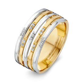 Ring bicolor briljant 0.08 crt.