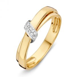 Ring bicolor briljant 0.09 crt.