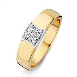 Ring bicolor briljant 0.11 crt.