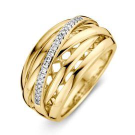 Ring bicolor briljant 0.12 crt.