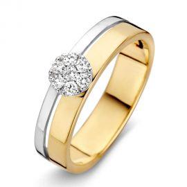 Ring bicolor briljant 0.14 crt.