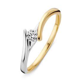 Ring bicolor briljant 0,14 crt.
