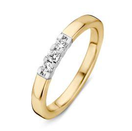 Ring bicolor briljant 0.15 crt.