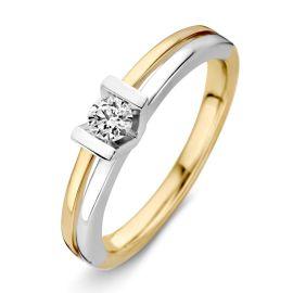 Ring bicolor briljant 0.18 crt.