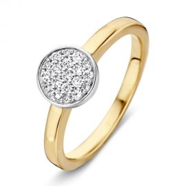 Ring bicolor briljant 0.19 crt.