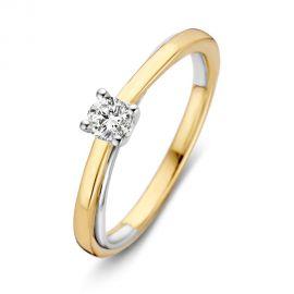 Ring bicolor briljant 0,19 crt.