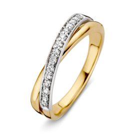 Ring bicolor briljant 0.20 crt.