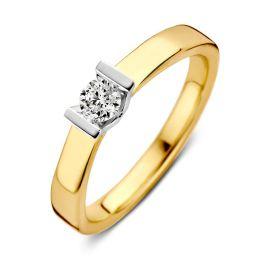 Ring bicolor briljant 0,20 crt.