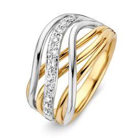 Ring bicolor briljant 0,21 crt.