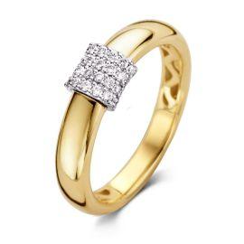 Ring bicolor briljant 0.21 crt.