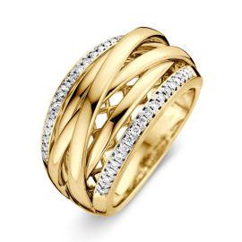 Ring bicolor briljant 0.22 crt.