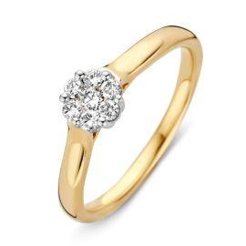 Ring bicolor briljant 0.23 crt.