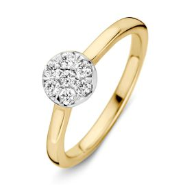 Ring bicolor briljant 0.24 crt.