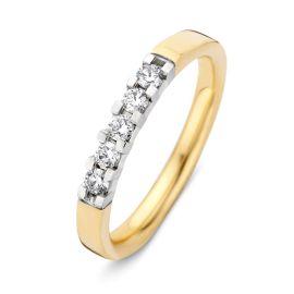 Ring bicolor briljant 0.25 crt.
