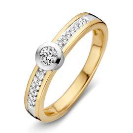 Ring bicolor briljant 0.26 crt.