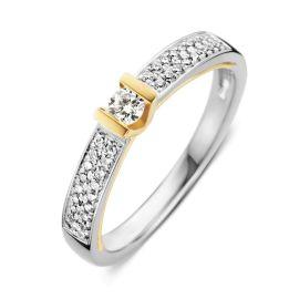 Ring bicolor briljant 0,26 crt.