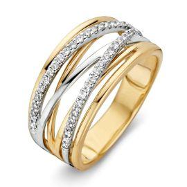 Ring bicolor briljant 0.27 crt.