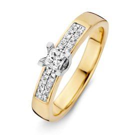 Ring bicolor briljant 0.29 crt.