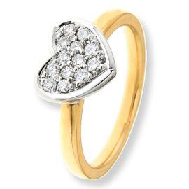 Ring bicolor briljant 0.30 crt.