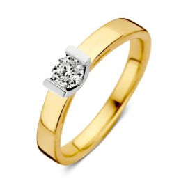Ring bicolor briljant 0,30 crt.