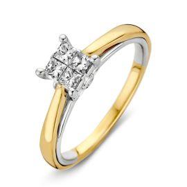 Ring bicolor briljant 0,33 crt.