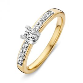 Ring bicolor briljant 0.33 crt.