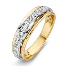 Ring bicolor briljant 0.34 crt.