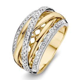 Ring bicolor briljant 0,34 crt.