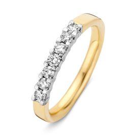 Ring bicolor briljant 0.35 crt.