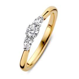 Ring bicolor briljant 0.36 crt.