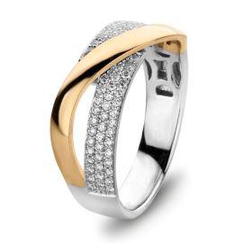 Ring bicolor briljant 0.37 crt.