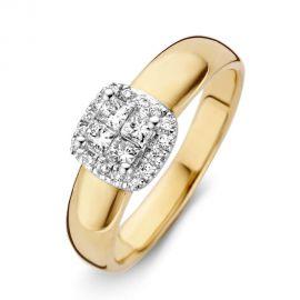 Ring bicolor briljant 0.38 crt.